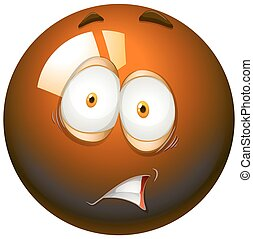 Fearful facial expression emoticon illustration