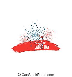 Labor day banner National Day of the United States of...