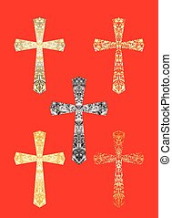 Collection of Christian crosses