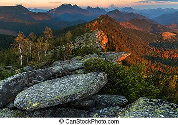 mountain - Carpathians mountain in autumn time