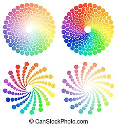 Color Circle - Color wheel or color circle icons set,...