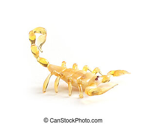 Scorpio - yellow Scorpio from glass