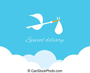 Logo design element Special delivery