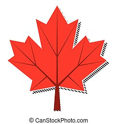 maple leaf - retro vintage maple leaf