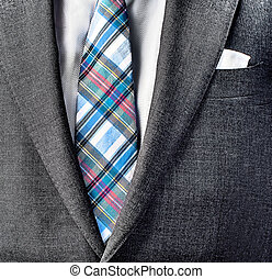 Close up photo of suit and tie - Close up photo of suit