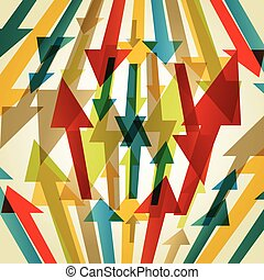Retro style abstract arrow background