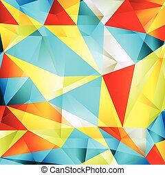 Geometric triangle mosaic abstract vector background concept