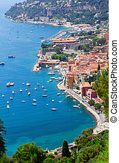 cote dAzur, France - coastline and turquiose water of cote...