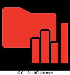 Charts Folder icon from Business Bicolor Set