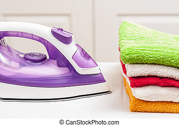 Ironing on home desktop - ironing, clothes, housework and...