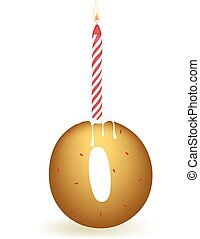Number Zero Birthday Candle - Number zero birthday candle in...