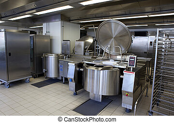 Kitchen - Professional kitchen in a canteen for collectivity