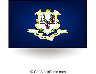 Connecticut State Flag - Official flag of the state of...