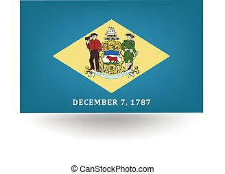 Delaware State Flag - Official flag of the state of Delaware...
