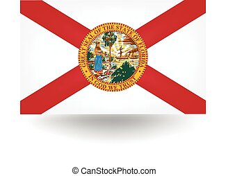 Florida State Flag - Official flag of the state of Florida.
