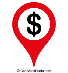 Bank location icon