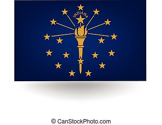 Indiana State Flag - Official flag of the state of Indiana.