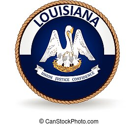 Louisiana State Seal - Seal of the American state of...
