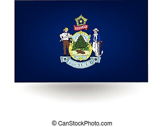 Maine State Flag - Official flag of the state of Maine