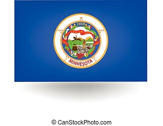 Minnesota State Flag - Official flag of the state of...