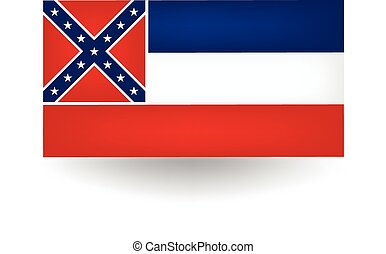 Mississippi State Flag - Official flag of the state of...