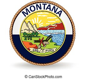 Montana State Seal - Seal of the American state of Montana.
