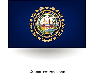New Hampshire State Flag - Official flag of the state of New...