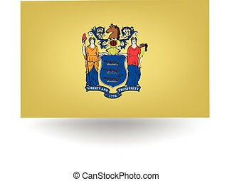 New Jersey State Flag - Official flag of the state of New...