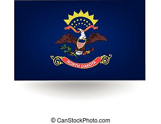 North Dakota State Flag - Official flag of the state of...