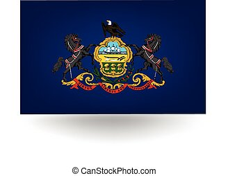 Pennsylvania State Flag - Official flag of the state of...