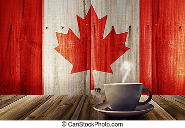 coffee and flag - cup of coffee with flag texture