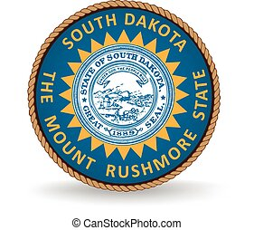 South Dakota State Seal - Seal of the American state of...