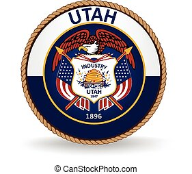 Utah State Seal - Seal of the American state of Utah