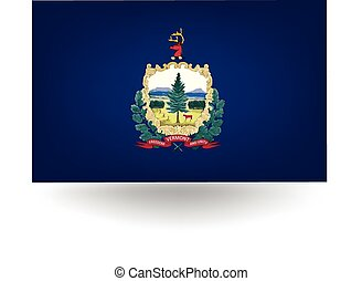 Vermont State Flag - Official flag of the state of Vermont