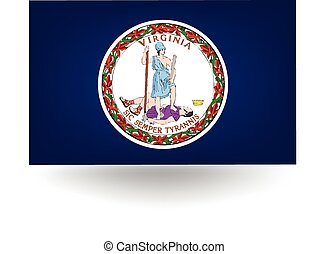 Virginia State Flag - Official flag of the state of Virginia...