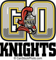 go knights team design with mascot helmet