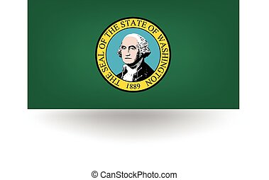 Washington State Flag - Official flag of the state of...