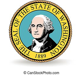 Washington State Seal - Seal of the American state of...
