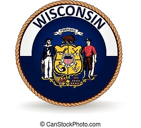 Wisconsin State Seal - Seal of the American state of...