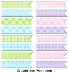 Collection of cute tape stripes - Vector collection of cute...