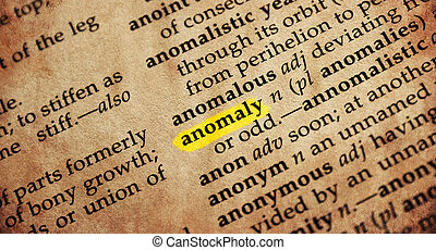 dictionary word - Anomaly word in old textured dictionary