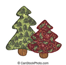 embroidered pine