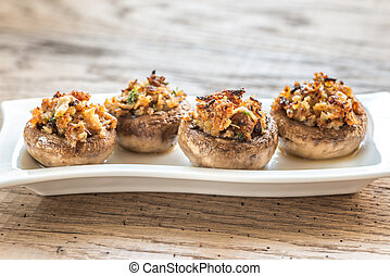 Stuffed mushrooms caps