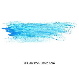 blue brush strokes oil paint - photo blue grunge brush...