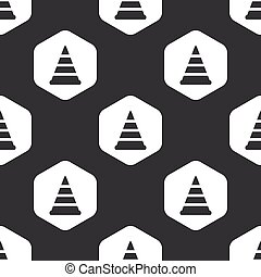 Black hexagon traffic cone pattern - Image of traffic cone...