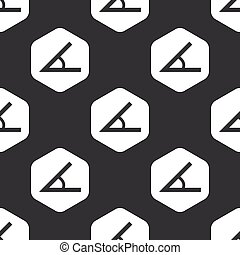 Black hexagon angle pattern - Image of angle in hexagon,...