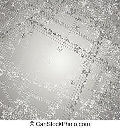 Grey gradient architecture background
