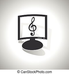 Curved music monitor icon