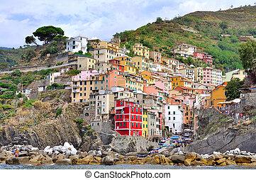 Riomaggiore - village of five land - Colorful village of the...