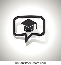 Curved graduation message icon